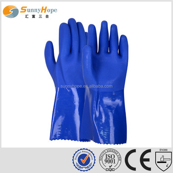 Certification EN420 iso pvc oil resistant gloves