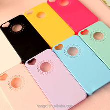 Cute candy Color Loving Heart Flower Lace Hard Phone Case Cover For apple iphone 5 5s 4 6 7 6plus