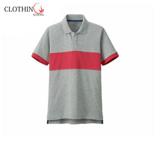 quick dry high performance contrast color mens polo shirt
