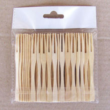 90mm Disposable Food Grade Mini Bamboo Picks Bamboo Cocktail Fruit Fork