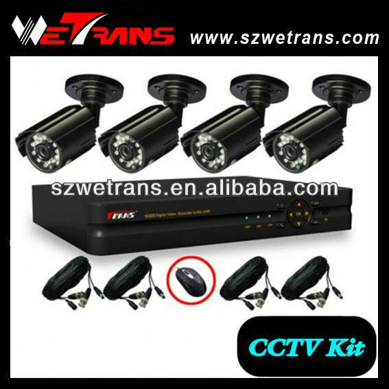 WETRANS 4CH CCTV Analog System, Camera and DVR, Economical Surveillance Video Security Camera Systems