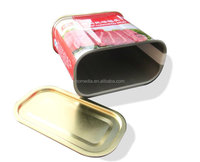 340g Easy to Open Rectangular Food Can for Luncheon Meat