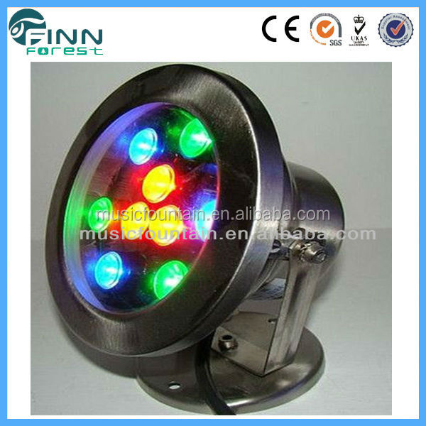 IP68 round underwater fountain nozzle light / water activated led light