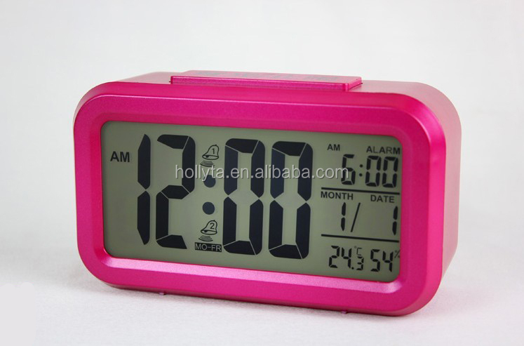 LCD Digital Cheap Alarm Clock With Adjustable Backlight