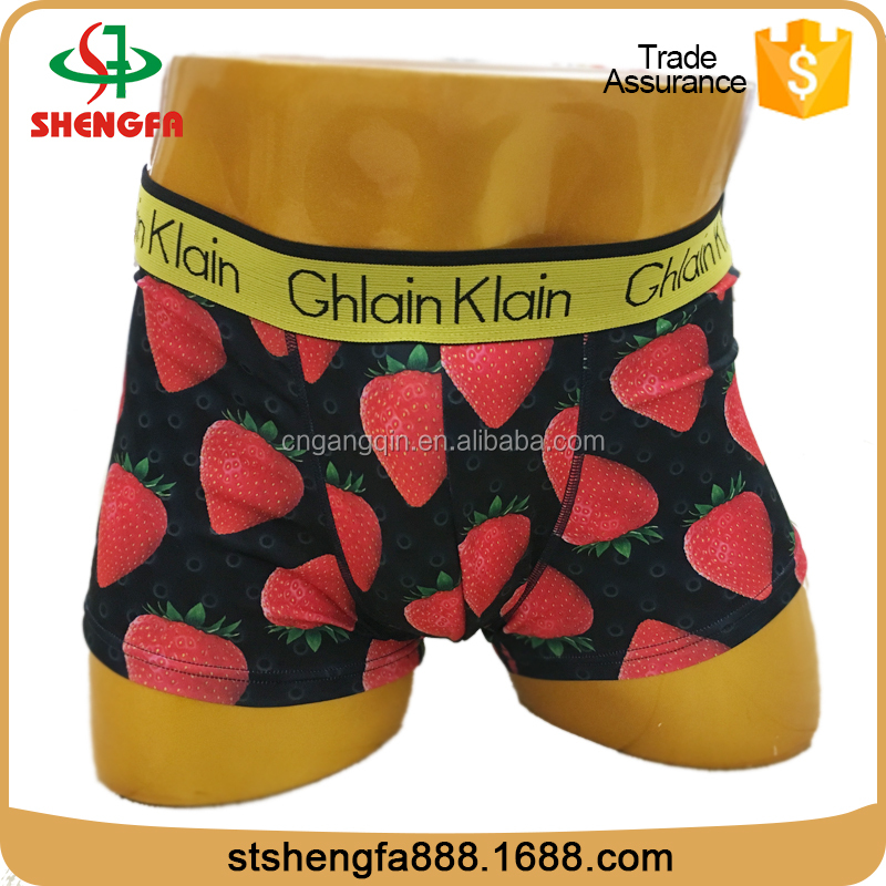 Fashion top quality breathable mens polyester boxer shorts