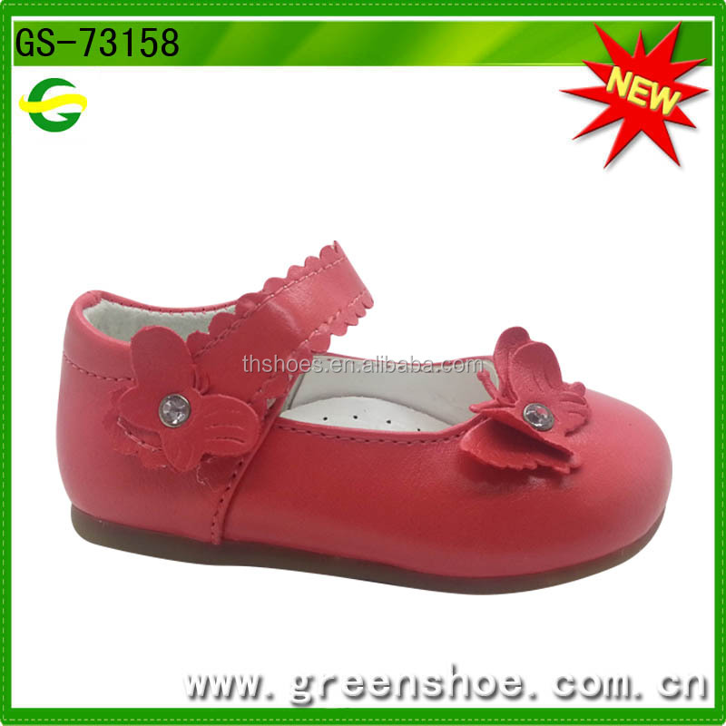 Cheap best selling new fashion high quality newborn baby leather soft baby shoe with Butterfly in China