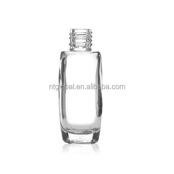 9ml tall thin glass nail polish bottle