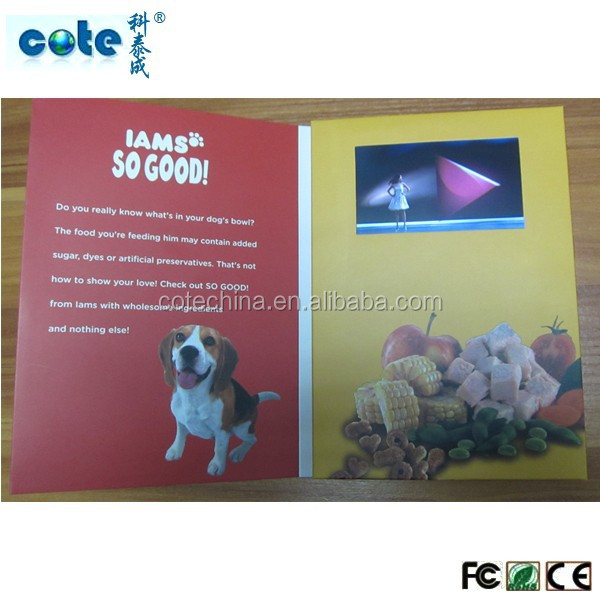 HOT selling advertising video / Touch screen display /4.3inch video greeting card module for greeting card
