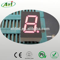 "1.5 inch 7 segment led display, 1.5"" inch factory price 1 digit seven segment led display"