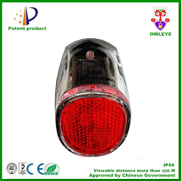 solar bicycle taillight with LED and reflector hot sale in Europe market