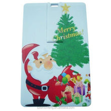 The newest fashion credit card design chrismas fastival gift best hot selling fastest USB flash drives