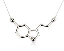 fashion jewelry 316L stainless steel molecular pendant necklace