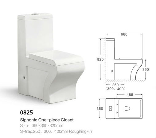 Made in China white ceramic 650*370*800mm water system chinese one piece toilet