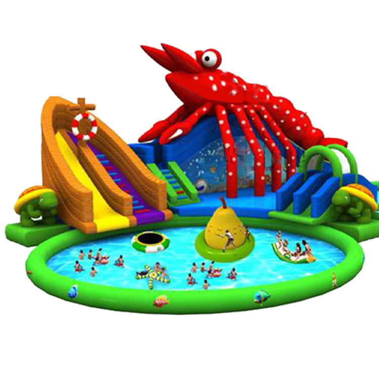 Promotion custom giant inflatable pools with slide giant inflatable water park