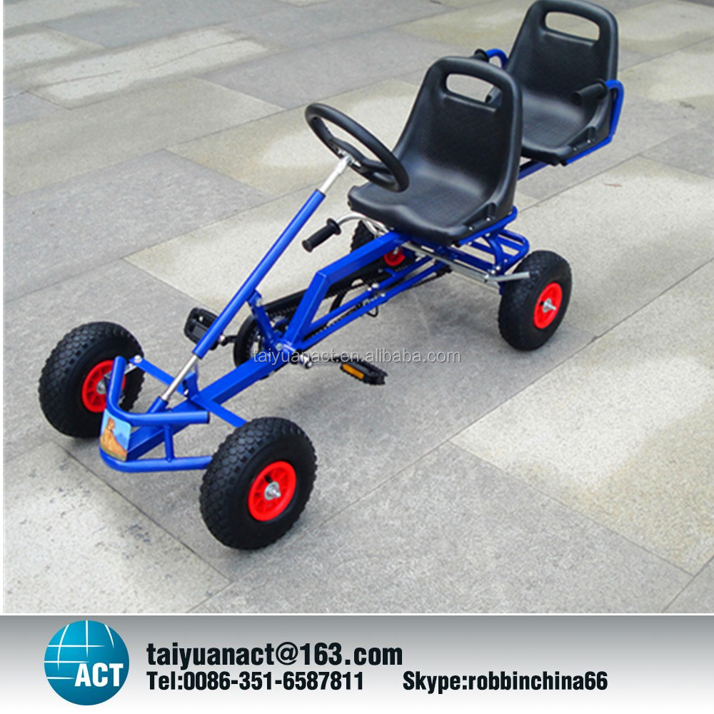 Two seats Karting Beach Go Karts go kart cars cheap hot sale kids adult two seat pedal go kart