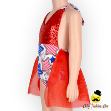 Fashion Style Boutique Tutu Skirt Summer Red Bodysuit Halter Bling Bling Sequin Baby Romper Suit