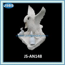 Hand Carved Marble Garden Goose JS-AN148