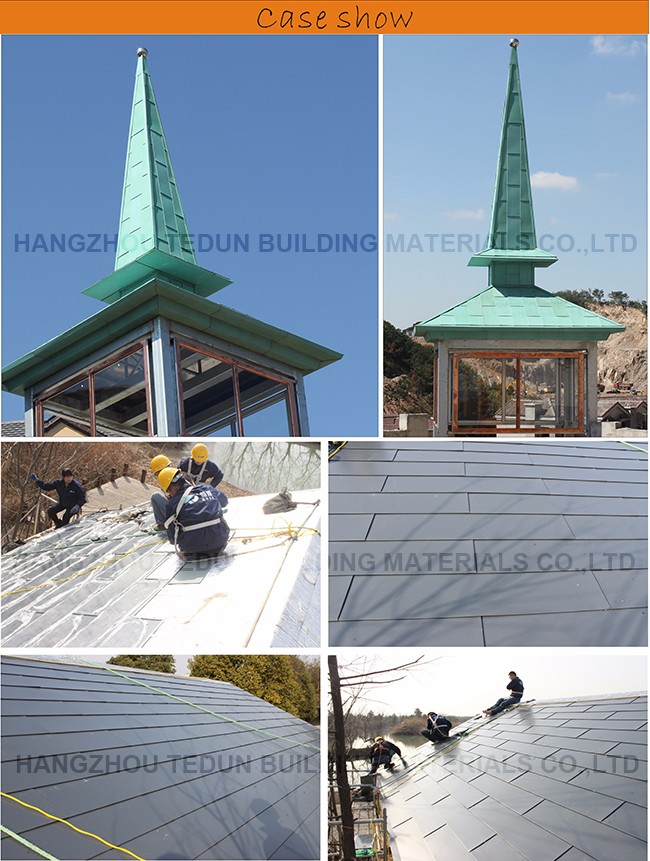 Titanium Zinc Decorative Roof Metal Shingles