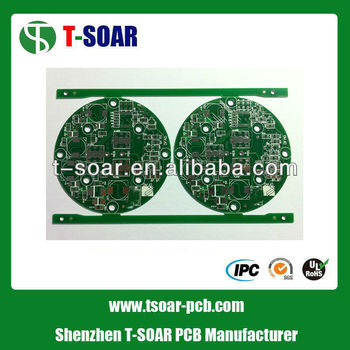 Green Round PCB Electronic Circuit Board