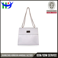 Women White Chains Solf Single Shoulder Bag Famous Brand Beautiful Nice Handbag