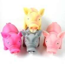 Durable Dog Rubber Toy Bellow Pig Non-Toxic Color Customize Funny Dog Toy