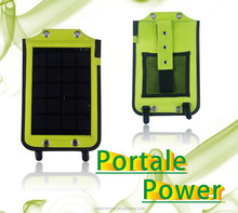 5W 5V 1a solar backpack charger, solar panel hung on shoulder for outdoor usage