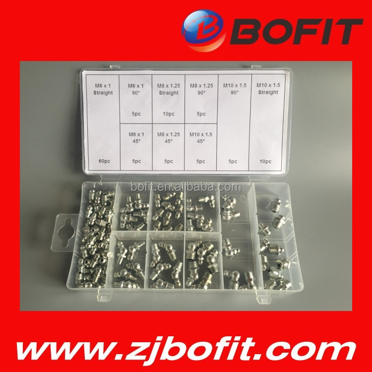 BOFIT hot selling 110pcs grease nipple assortment good prices