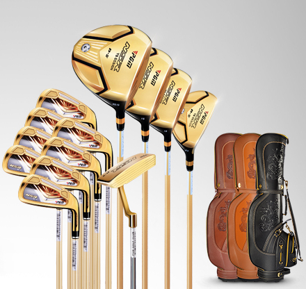 China Wholesale Golden Golf Clubs Complete Set