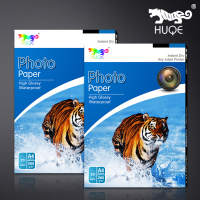 HUQE factory direct high glossy waterproof 260gsm A4 20 sheets inkjet photo paper