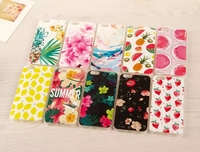 Fashion Printed Phone Cover Slim Soft Tpu Back Case flower cover New arrival For iphone 4.7 5.5 for galaxy