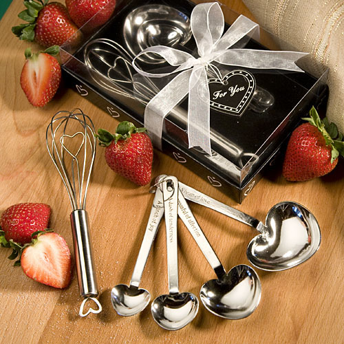 Measuring Spoon and Whisk Favour Sets Wedding Giveaway Gifts
