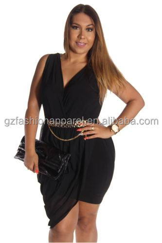 plus size black v neck dress very very sexy women clothing