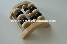 new design 3 row wooden body care foot massager