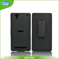 Free sample heavy duty back cover case for Sony T2 with back clip