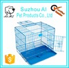 Wholesale Folding Metal Dog Crate Double Door Kennel Strong Pet Cage