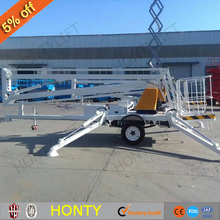 200kg small electric trailer towable spider lifts mobile boom lift price for sale