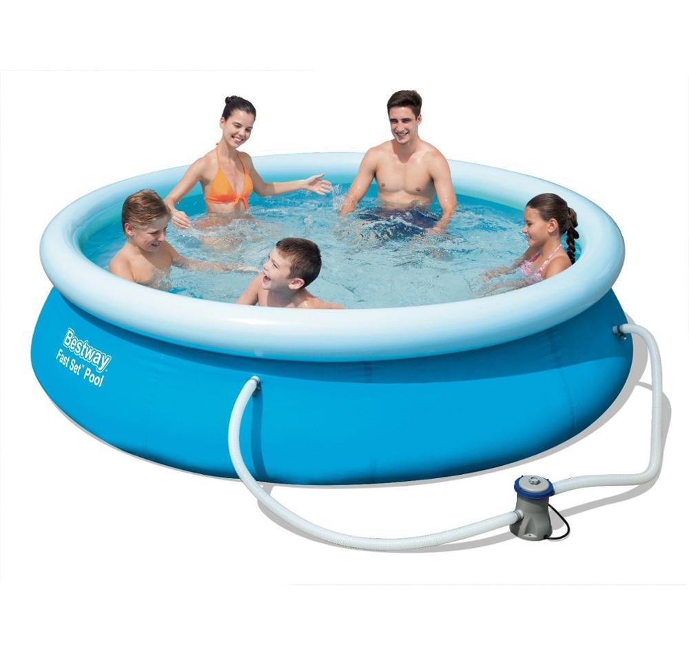 Bestway Inflatable 8ft X 26in / 2.44m X 66cm Fast Set Round Above ...