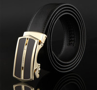 Fashion Men leather belts automatic buckle sex leather belts