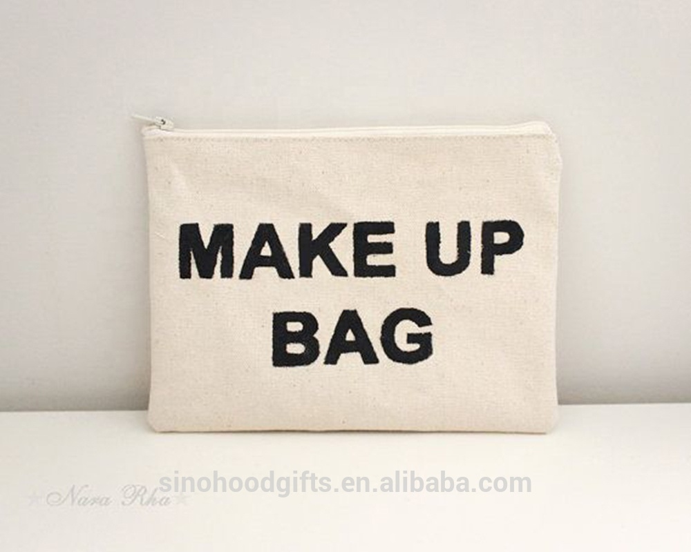 China Factory Wholesale Fashion Cotton Makeup <strong>Bag</strong>/ Cotton Zipper Pouch/Cotton Clutch <strong>bag</strong>