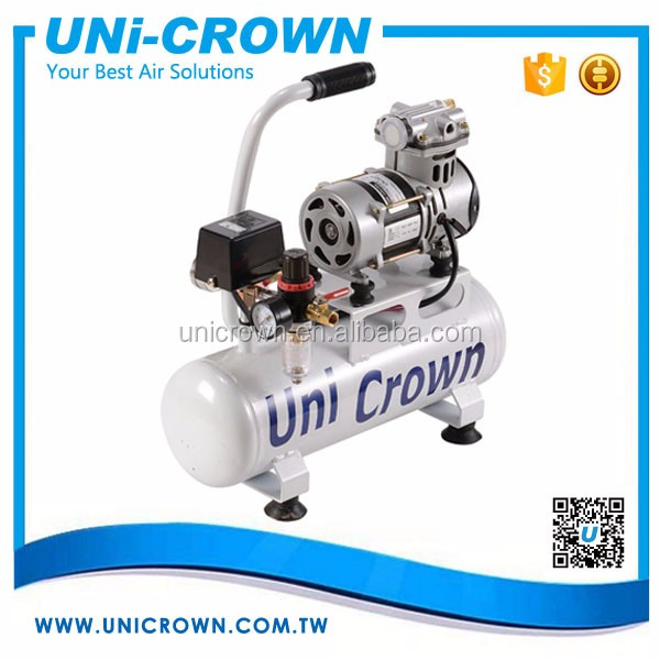 UN-50PT 220V Oilless Air Compressor set 7kgf/cm2 50LPM 6L 400W Manufacturer