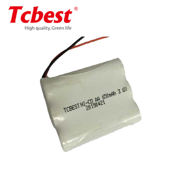 3.6V NI-CD Battery Pack Rechargeable battery pack AA 650mah,AA NI-CD rechargeable battery/