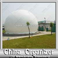 High strength polyester fabric biogas container
