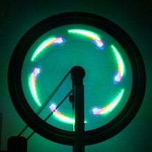 Willow leaf shape silicon material bicycle wheel led light