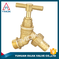 single handle tap bibcock high quality long alum handle with polishing plating three way manual power with lock with forged ppr