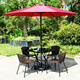 Stackable outdoor furniture rattan garden chair