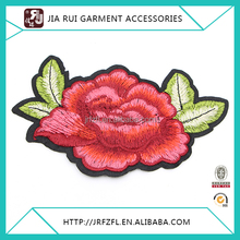 Fashion embroidery patch flowers applique work design for Making Clothes