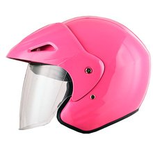 Pink color 3/4 open face safety bike helmet motorcycle