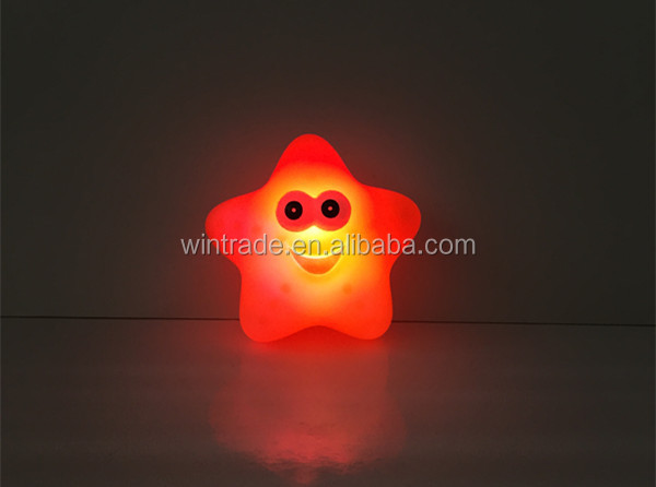 LED flashing night light children bath fish toy