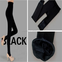 Women's Winter Thick Warm Fleece Lined Thermal Stretchy black color legging Pants