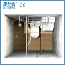 Economic and decent with shower toilet LED light home use prefab all in one SMC bathroom unit